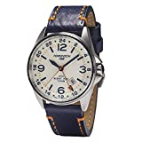 Torgoen T25 Cream GMT Pilot Watch | Night Pro 44mm - Blue Leather Strap