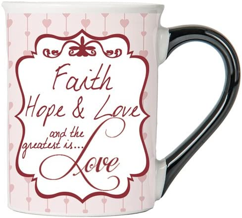 Faith, Hope, & Love And The Greatest Is... Love Mug , Inspirational Coffee Cup, Inspirational Mug, Ceramic Mug, Custom Inspirational Gifts By Tumbleweed