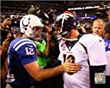 Peyton Manning (Denver Broncos) Andrew Luck (Indianapolis Colts) 2013 NFL Photo 11x14