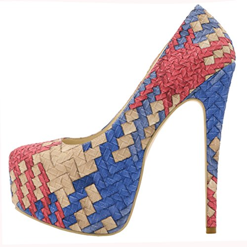 High 2017 Mit MERUMOTE Pumpen Party Show Pumpen Damenschuhe Hoch Colorful Heels CwXanHq
