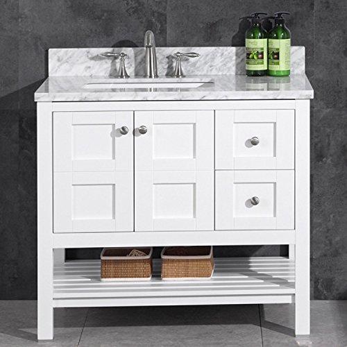 White Wood Vanity Top (Woodbridge 36