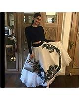 Neo enterprise Women'S Georgette With Blouse Piece Lehenga Choli (Sonam Kapoor White_White_Free Size) Diwali of india