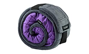 CORI Travel Pillow - World's 1st Customizable Memory Foam Travel Neck Pillow That ADAPTS to You for The Best Support, Comfort & Portability (Amethyst Purple)