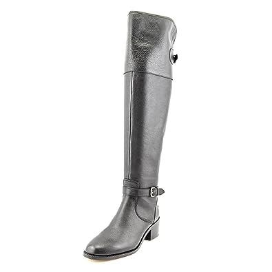 70192caece1 Amazon.com | Coach Womens Phillis Black Leather Boots (6) | Boots