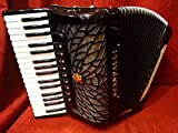 NEW Scandalli Piano Accordion Black Air II Double Tone Chamber LMMH 96 Italian
