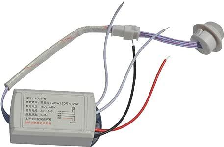 OUNONA Módulo Infrarrojo Sensor de Cuerpo Luz Inteligente Lámpara ...