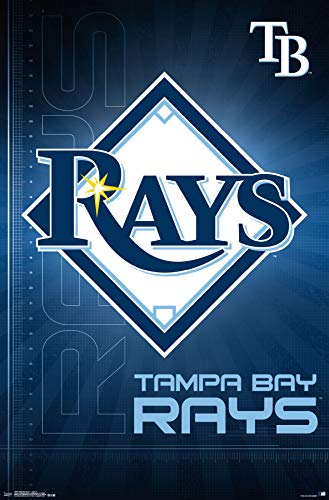(Trends International Tampa Bay Rays-Logo Mount Bundle Wall Poster 22.375