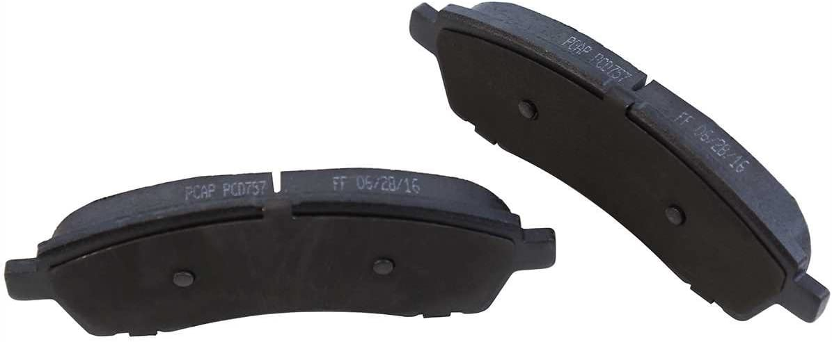 AutoShack PCD757-BC2720PR Rear Set of Two Brake Calipers and Performance Brake Pads