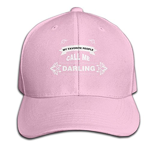 My Favorite People Call Me Darling Movement Cap Outdoor Summer Hat Pink