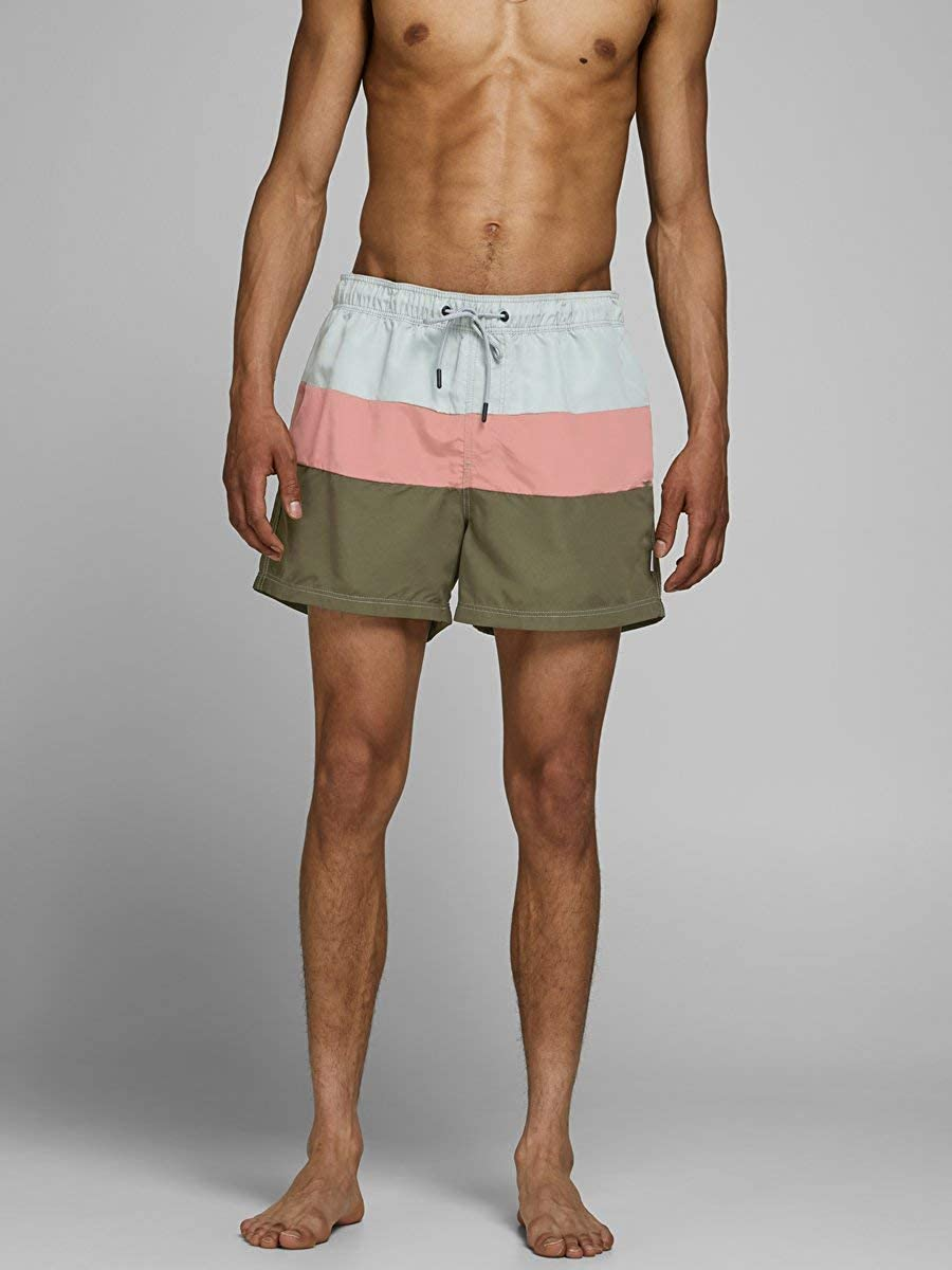 JACK /& JONES Jjiaruba Jjswimshorts AKM Color Block Bermuda Uomo