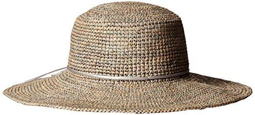 SCALA Women's Crocheted Raffia Hat, Mushroom, One Size ()