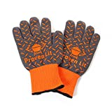 Proven Lit Grill Gloves (PAIR) - Extreme Heat Protection with Extra Grip- Heat Resistant with Extended Wrist Protection- Use for Grilling, BBQ, Fire Pit,Cooking- American Branded