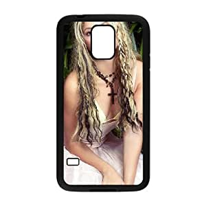 shakira in white dress wide Samsung Galaxy S5 Cell Phone Case Black xlb2-142726