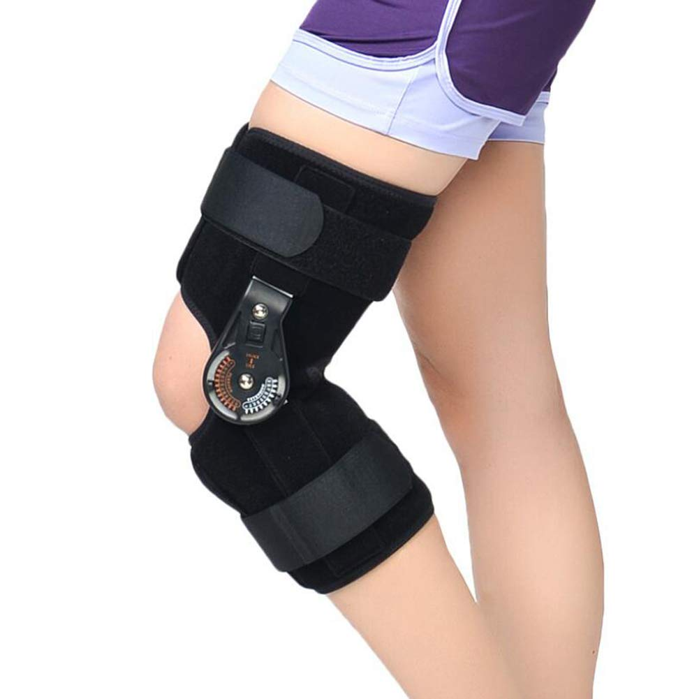 Knee Joint Support, Adjustable Angle Ligament Injury Knee Joint Protector, Sprain Knee Joint Fixed Brace,M