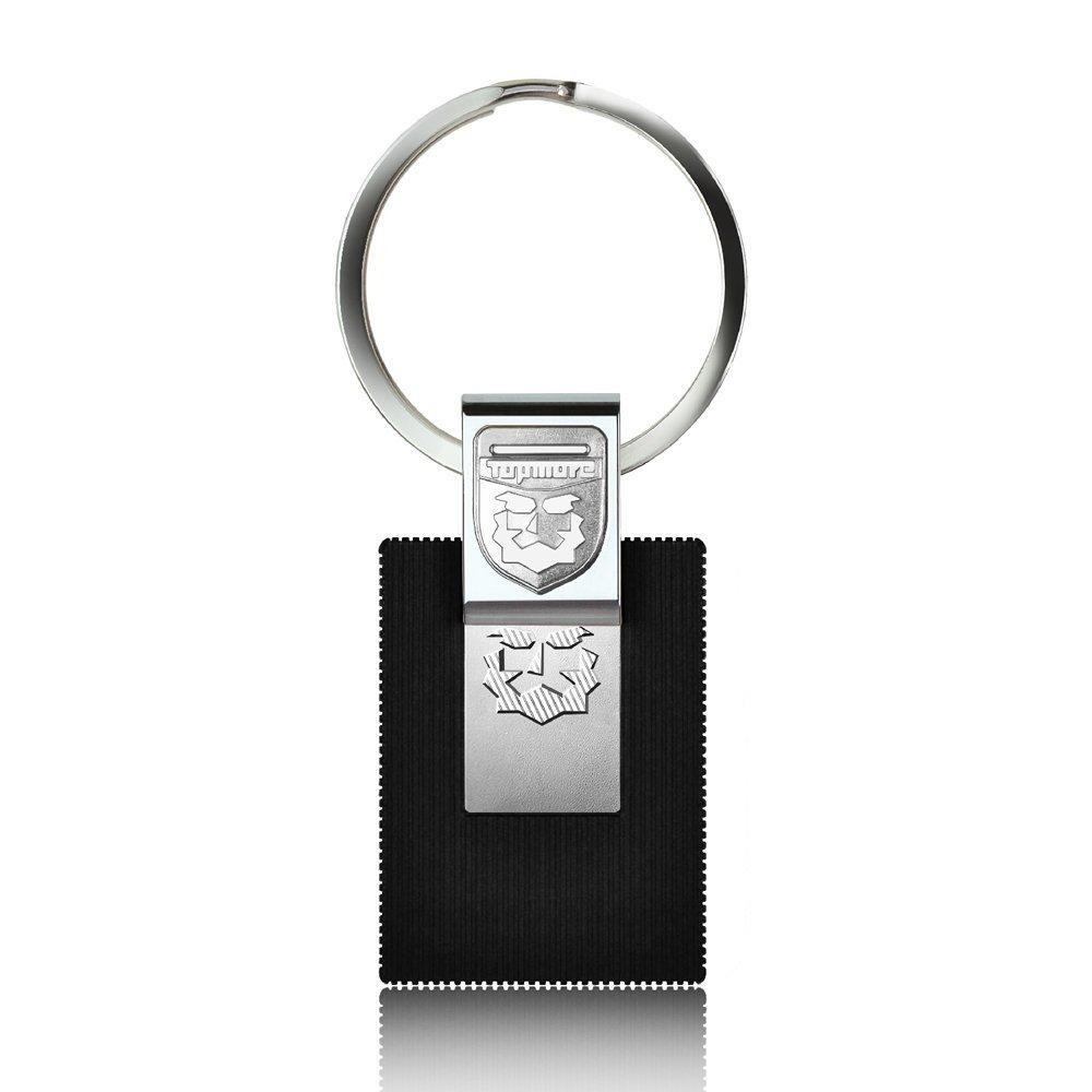 TOPMORE Key Ring ZH Series USB 3.0 Key Ring Design Flash Drive Portable High Read Speed Key Chain Memory Stick (32GB, Silver Chrome)