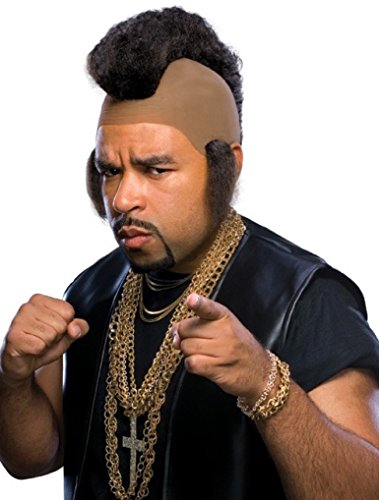 Rubie's Mr. Hammer Mohawk and Sideburns Wig, Black, One Size]()