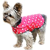 Stinky G Pink Polka Dots Dog Pet Raincoat #08 - XS