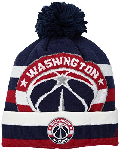fan products of NBA Utah Jazz Men's Standout Cuffed Knit Hat with Pom, Navy, One Size