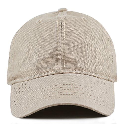 THE HAT DEPOT 100% Cotton Canvas 6-Panel Low-Profile Adjustable Dad Baseball Cap