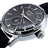 Seiko Mens Analogue Automatic Watch with Leather
