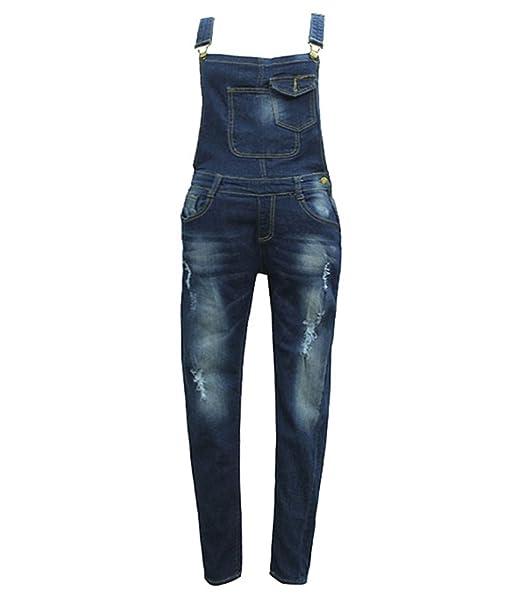 best service aa334 c89e7 WanYang Donne Denim Elegante Salopette Jeans Ragazza Gonna Lunga Jeans  Strappati Jeans Blu Donna