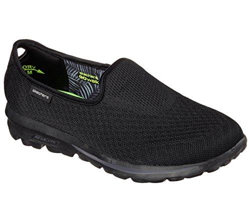 Skechers Gowalk Mezcla de deslizamiento ligero En la zapatilla de deporte Black