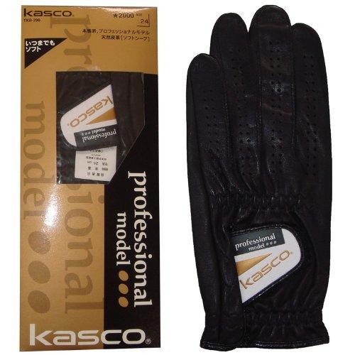 Kasco Golf Glove Natural Leather 26cm Black