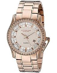 Stuhrling Original Women's 910.03 Symphony Calliope Quartz Date Crystal Accented 16K Rose Tone Stainless Steel Link Bracelet Watch
