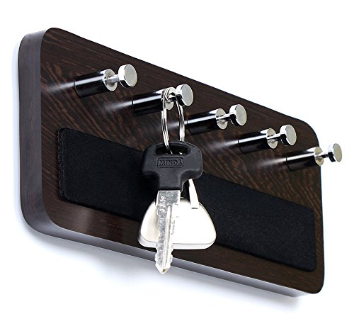 Bluewud Skywood Wall Mounted Key Holder/Key Rack Hooks (Wenge, 5 Keys, -