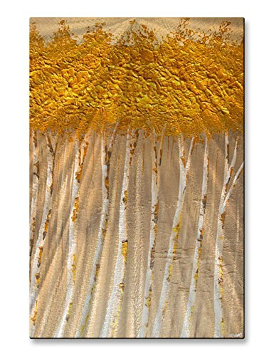 Metal Art Sculpture  Golden Forest Osnat Landscape Wall Décor