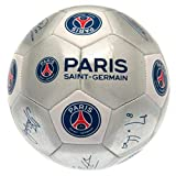 PSG - Authentic Club Licensed Silver Size 5 Soccer Ball with Team Signatures