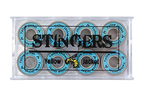 Yellow Jacket Premium Skateboard Bearings, Pro Longboard Bearings, 608, ABEC 11, Bomber Blue (Pack of 8) (Ball Blue Bearing)