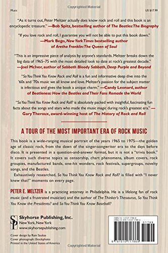 So you think you know rock and roll an in depth qa tour of the so you think you know rock and roll an in depth qa tour of the revolutionary decade 1965 1975 peter e meltzer 9781510717664 amazon books fandeluxe Gallery