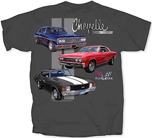 (GM Chevrolet Chevelle Classic Car Lineup Automobile T-Shirt Tee Select Shirt Size: X-Large)