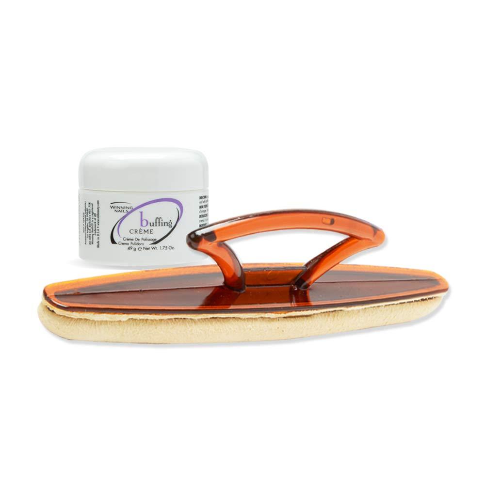 Winning Nails Chamois Buffer & Buffing Cream, 1.75 Oz. Set by Winning Nails