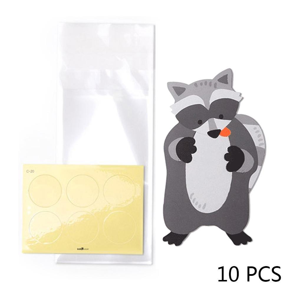 Rejoicing 10PCS//Lot Cute Animal Bear Rabbit Koala Candy Bags Biglietti di Auguri per Biscotti Sacchetti Regalo Baby Shower Birthday Party Decorazione Regali Borse A