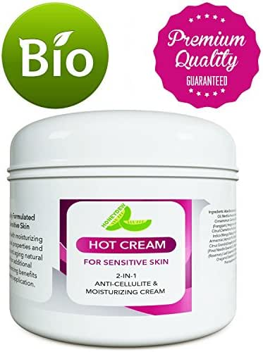 Sensitive Skin Body Moisturizer & Hot Cream Fat Burner for Women and Men – All Natural Body Cream with Antioxidant Herbs Botanicals & Fruit Extracts Apple Orange and Mango – Smooth & Brighten Skin