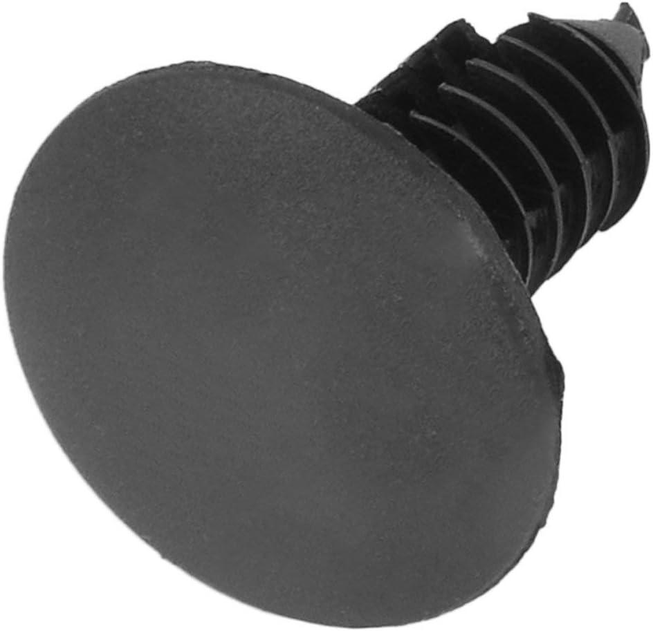YUIO 50Pcs//lot 17313-7 Universal Auto Fastener fit 6mm Hole Nylon Car Clips Fender Bumper Shield Retainer Plastic Rivet black