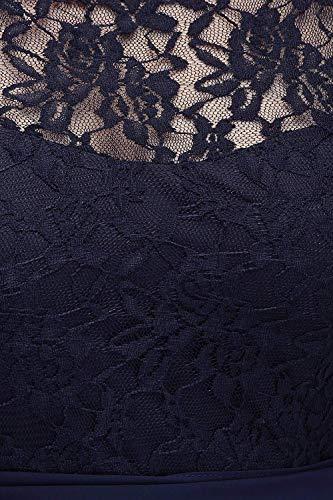 Navyblau Elegant Kleid MisShow Große Spitzen Chiffon Cocktail Abikleider Partykleider Größen Abendkleider Maxikleid Px7SfZqw