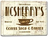 MCSHERRY'S Coffee Shop & Bakery Stretched Canvas Print