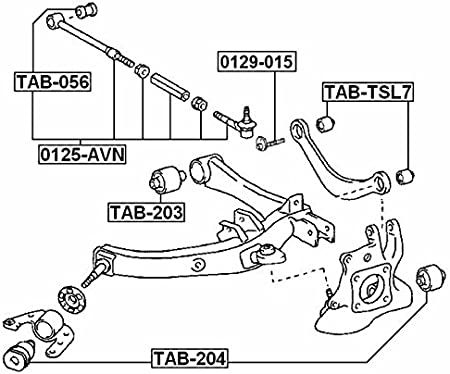 Ball Joint Rear Knuckle For Toyota Scion Tc Ant10 2004-2010