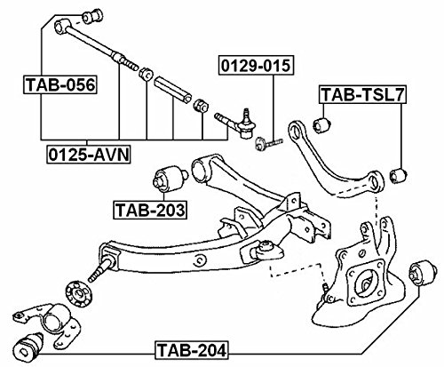 Rear Track Control Rod For Toyota 48730-21110 4873021110