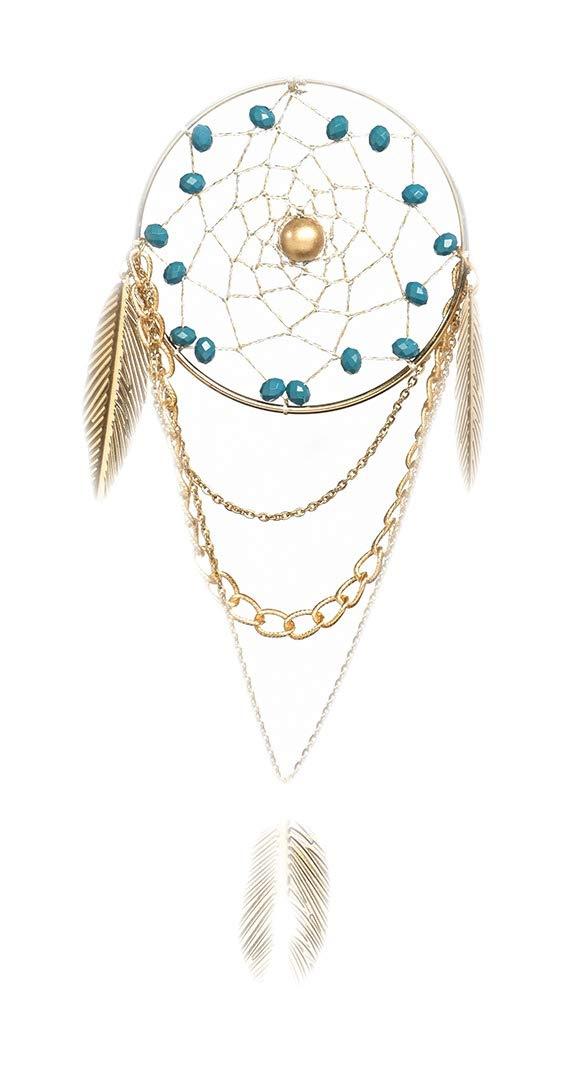Rooh Dream Catcher ~ Vegan Blue ~ handmade hangings for home Decor, Wall hangings, garden, car, outdoor, bedroom Rooh wellness