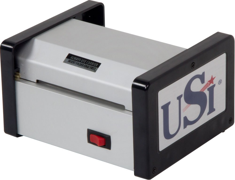USI HD400 Heavy Duty Thermal (Hot) Pouch Laminator, Laminates Pouches up to 4 Inches Wide and 15 Mil Thick; 5-YEAR WARRANTY, Made in the USA
