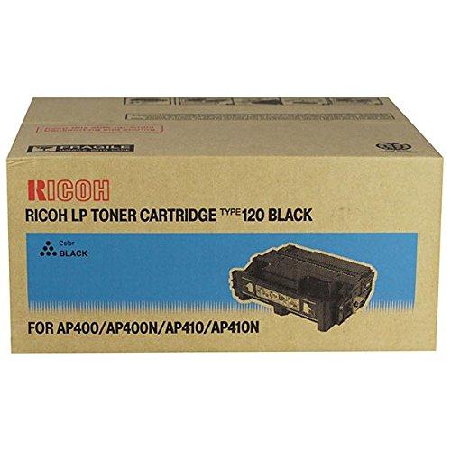 Ricoh 407000 Black Toner Cartridge Type 120 for Aficio AP400, AP400N, AP410, AP410N