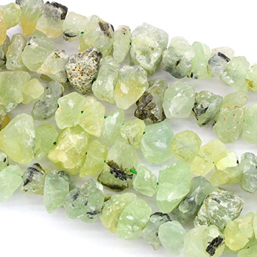 Natural Rough Unpolished Gemstone Nuggets 12*16mm Free Size Jewelry Making Loose Beads (Prehnite)