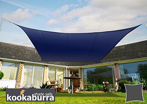 クッカバラパーティシェードセイル 青色 紫外線96.5%カット 布帛 - 耐水性タイプ OL0134LS (正方形: 5.4 x 5.4m) B07CGFRD2P 17700   正方形: 5.4 x 5.4m