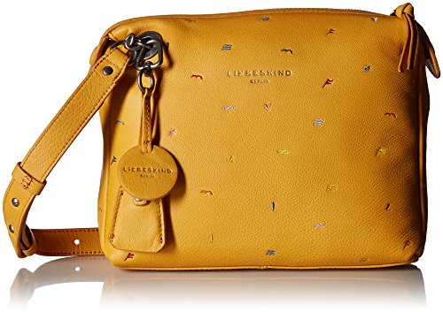 Crossbody Liebeskind Embroidered Leather Arielle Berlin Women's Amber Yellow HHFgqZOwx