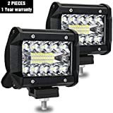 "Best Off Road Lights - AMBOTHER LED Pods 4"" Light Bar Spot Flood Review"