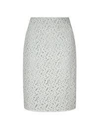 Yumi Womens/Ladies Lace Pencil Skirt